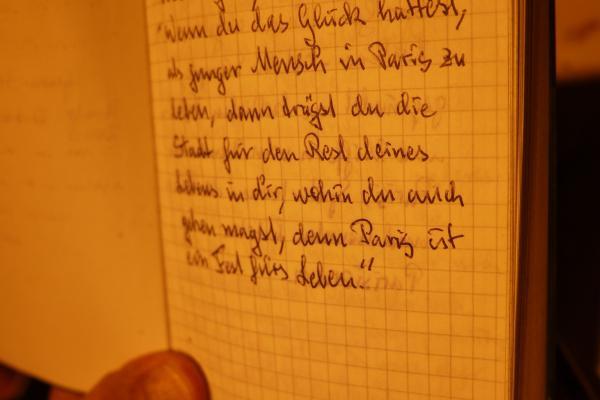 Juri's Parisian notebook