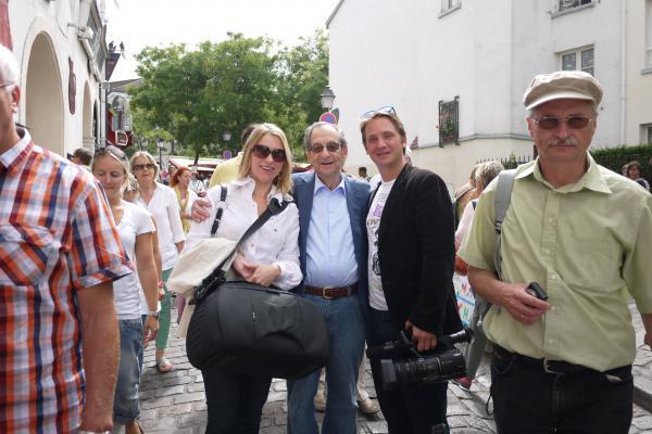Juri Elperin with filmmaker Manfred Wiesner at Montmatre
