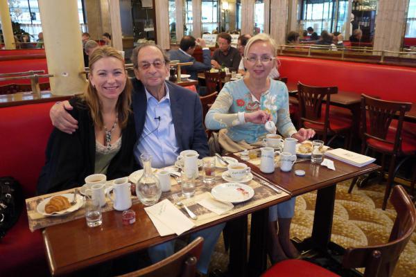 In the famous café of Jean Paul Sartre and Simone de Beauvoir